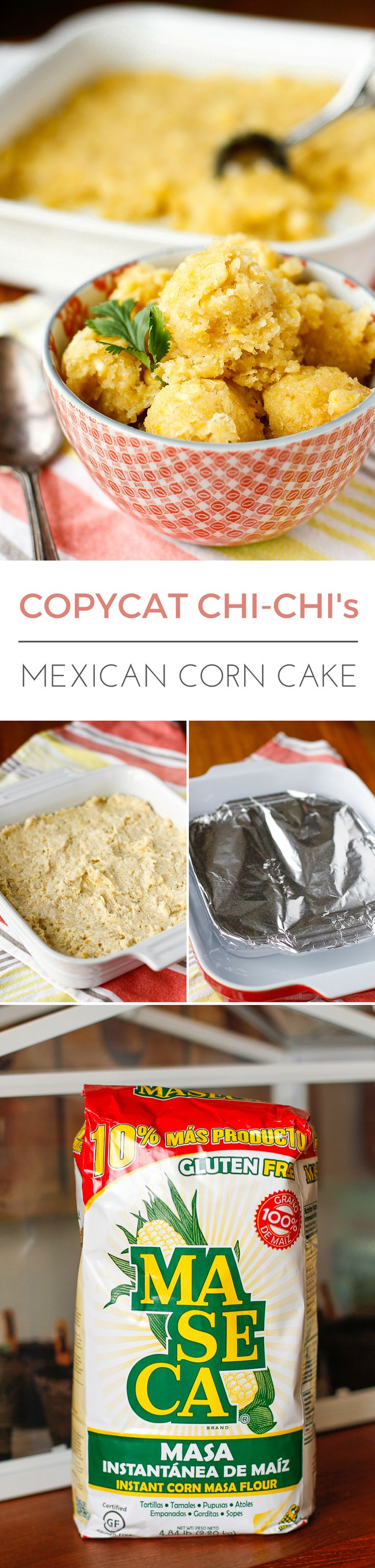 Copycat Chi-Chi's Mexican Sweet Corn Cake -- this delicious sweet corn cake is a copycat of the yummy side that used to be served at Chi-Chi's! | via @unsophisticook on unsophisticook.com