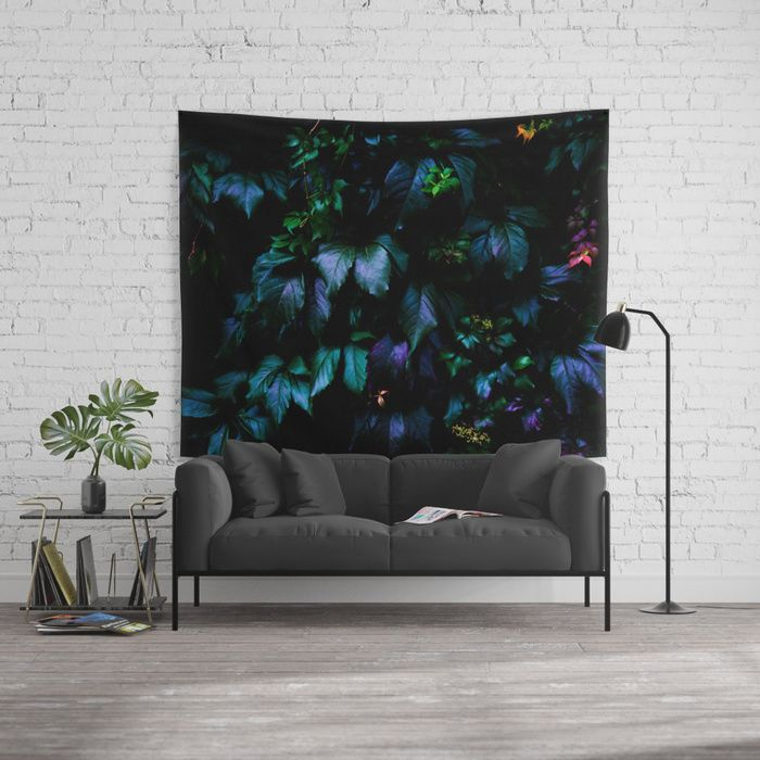 Welcome to the Jungle Wall Tapestry #forest #nature #jungle #floral #botanical #dark #magical #colorful #tapestry #walltapestry #homedecor #wallart