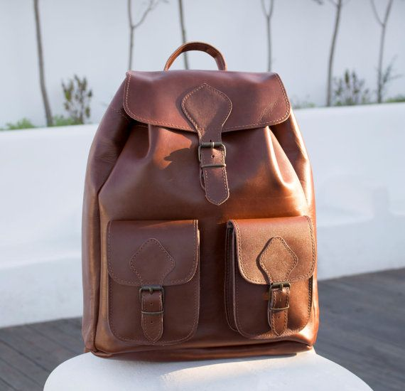 Leather Backpack  EXTRA LARGE Full Grain Handmade by MagusLeather
