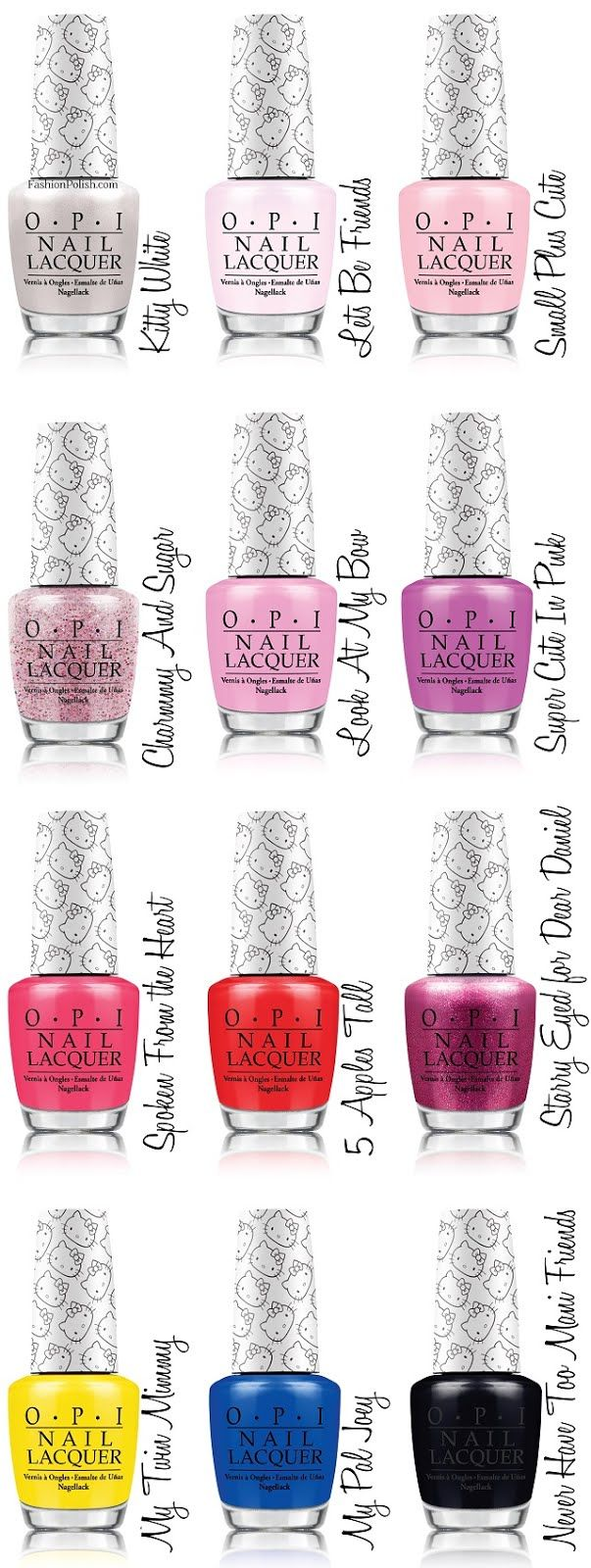 Fashion Polish: Hello Kitty by OPI Collection official press release! Soooo freaking cute!!!