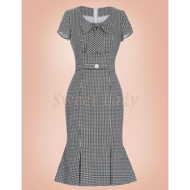 Elegantné čiernobiele šaty v štýle vintage