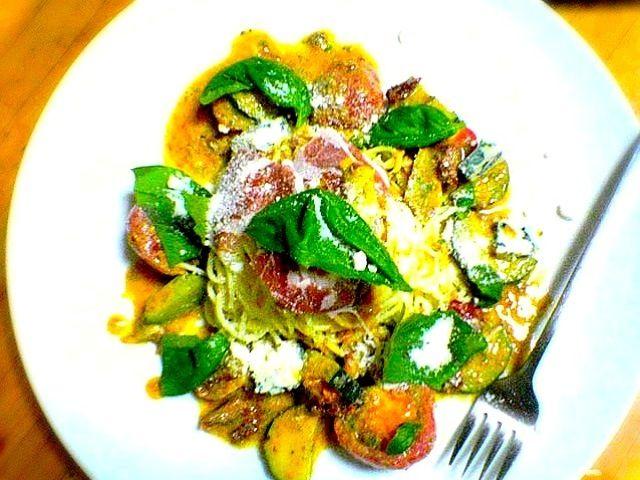 もぐもぐ!ありがとうございます(^_^)  ৳৸ᵃᵑᵏ Ꮍ৹੫ᵎcheck my dish٩(๑•◡-๑)۶ - 35件のもぐもぐ - モルタデッラと夏野菜の冷製パスタ  Cold pasta and summer vegetables mortadella by sk39