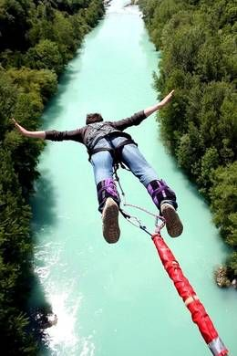 "Bungee Jumping, ""You have to die a few times before you can really  live."" -Charles Bukowski-"
