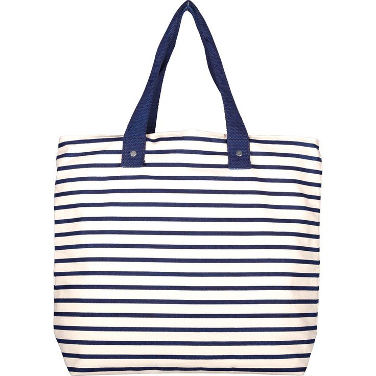 Navy Stripe Lined/ReversibleTote Bag & Cosmetic Pouches — MUSEUM OUTLETS