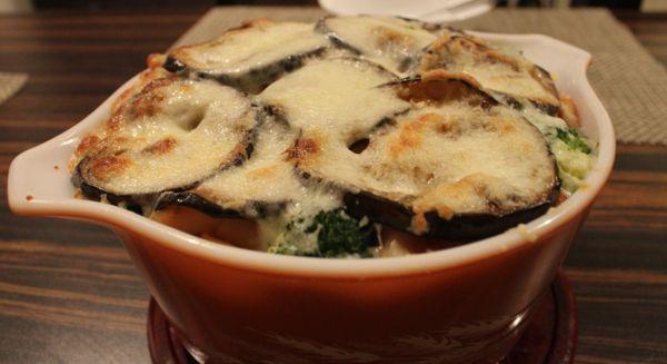 auberginen zubereiten mit käse überbacken