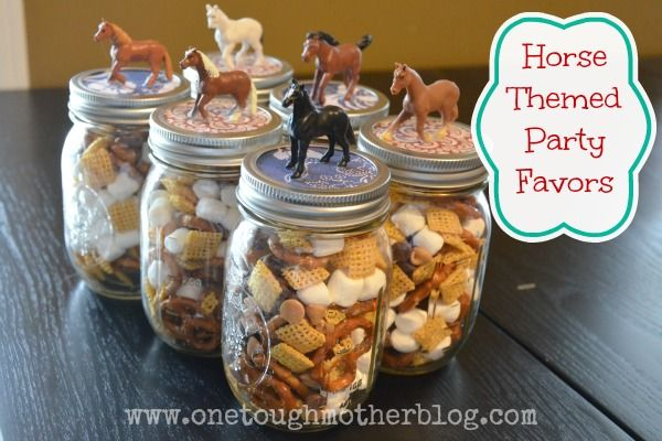 Party favors for horse-themed birthday party - by One Tough Mother