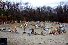 The_Station_nightclub_fire Makeshift memorial at the site of the Station night club
