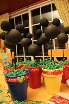 mickey mouse flower centerpiece - Google Search