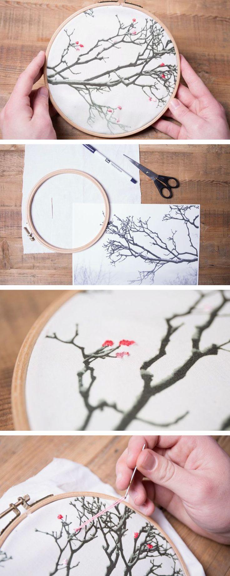 Ricamare una foto trasferita su tessuto: idea regalo perfetta da realizzare con le tue mani! http://it.dawanda.com/tutorial-fai-da-te/cucire/come-fare-quadretto-cerchio-ricamo-foto-trasferita-tessuto