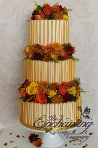 Autumn stripes by The Enchanting Cake Company