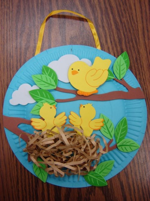 Spring, summer, or bird craft.  How cute is that!