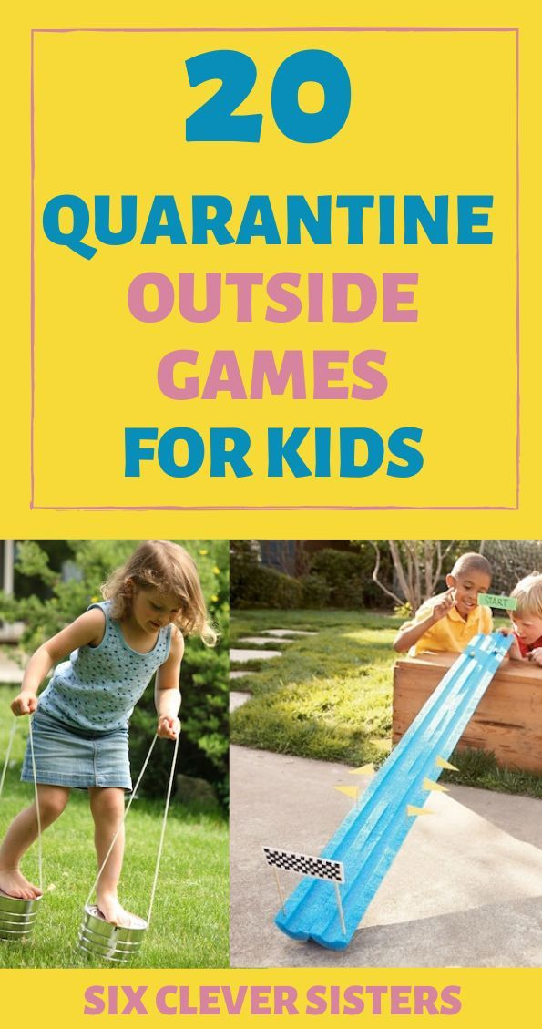 20 Backyard Activities For Kids Six Clever Sisters Outside Games For Kids Backyard Games Kids Outside Games