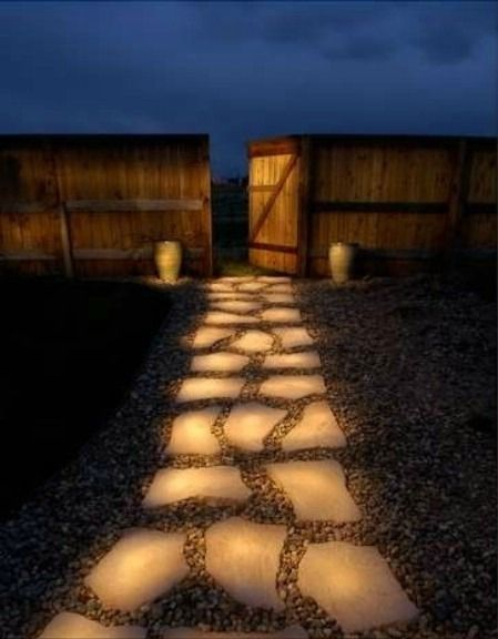 Solución Low cost para iluminar camino de jardines