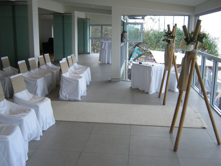 A beautiful set up overlooking the beach at The Surf Club Mooloolaba.