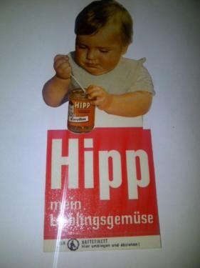 seltener Hipp Babynahrung Aufkleber, Sticker in Herborn
