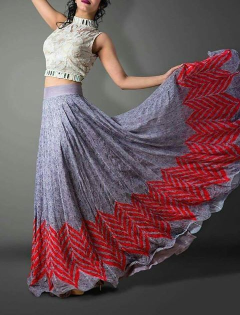 wild look long skirt....
