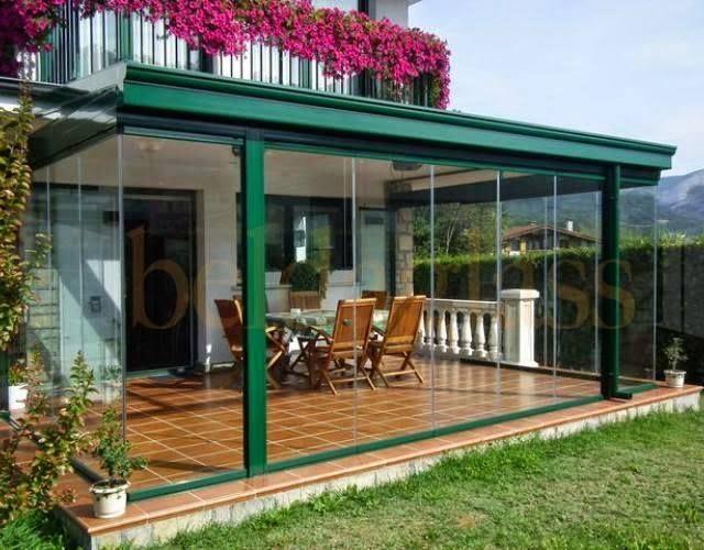 Terraza techada y cerrada con vidrios idead pinterest - Terraza de cristal ...
