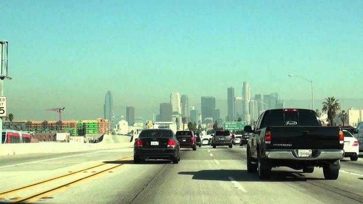 Northbound I-110 Harbor Freeway in Los Angeles, CA