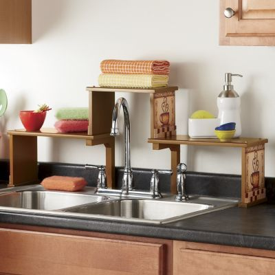 Over The Kitchen Sink Shelf Clever Crafts Pinterest Sink Shelf Sinks And Shelves