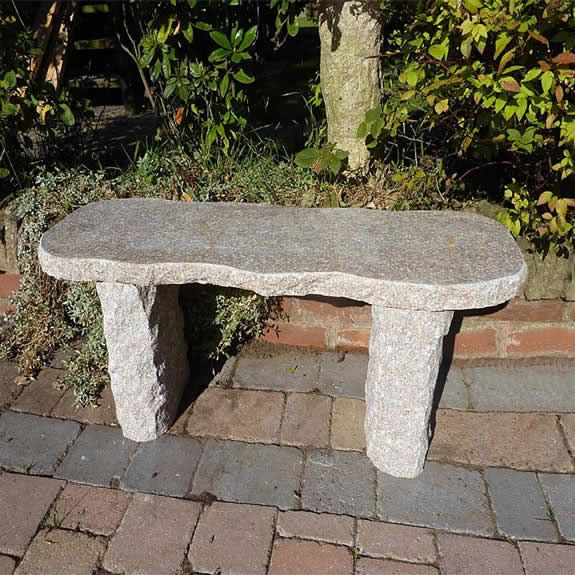 Wakayama Bench Garden Ornament Outdoor Stone Stone Bench