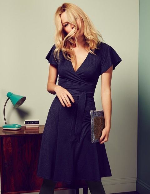 Lara Sparkle Dress WH905 Day Dresses at Boden @boden
