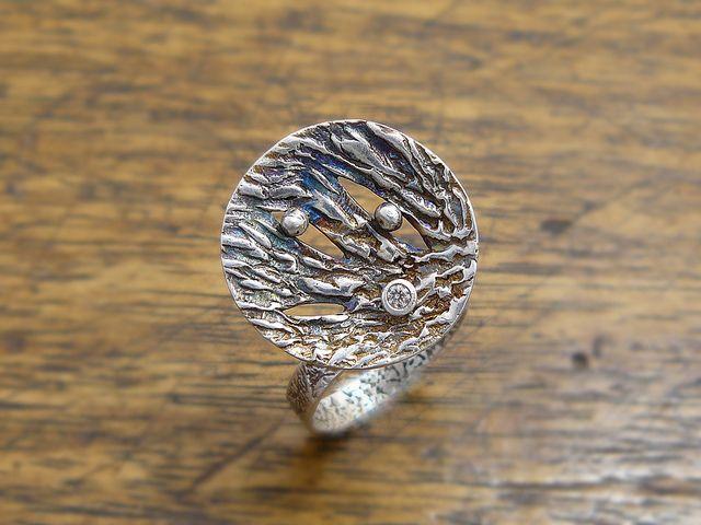 Zen Gazing Disc Ring by Joan Furilla.