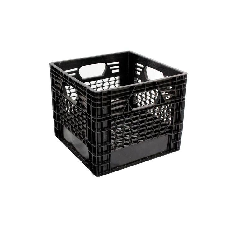 Plastic milk crates are a classic storage solution for Milk crate crafts