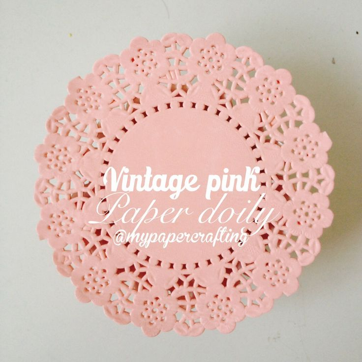 50 Vintage pink Colored paper doilies by MyPaperCrafting on Etsy