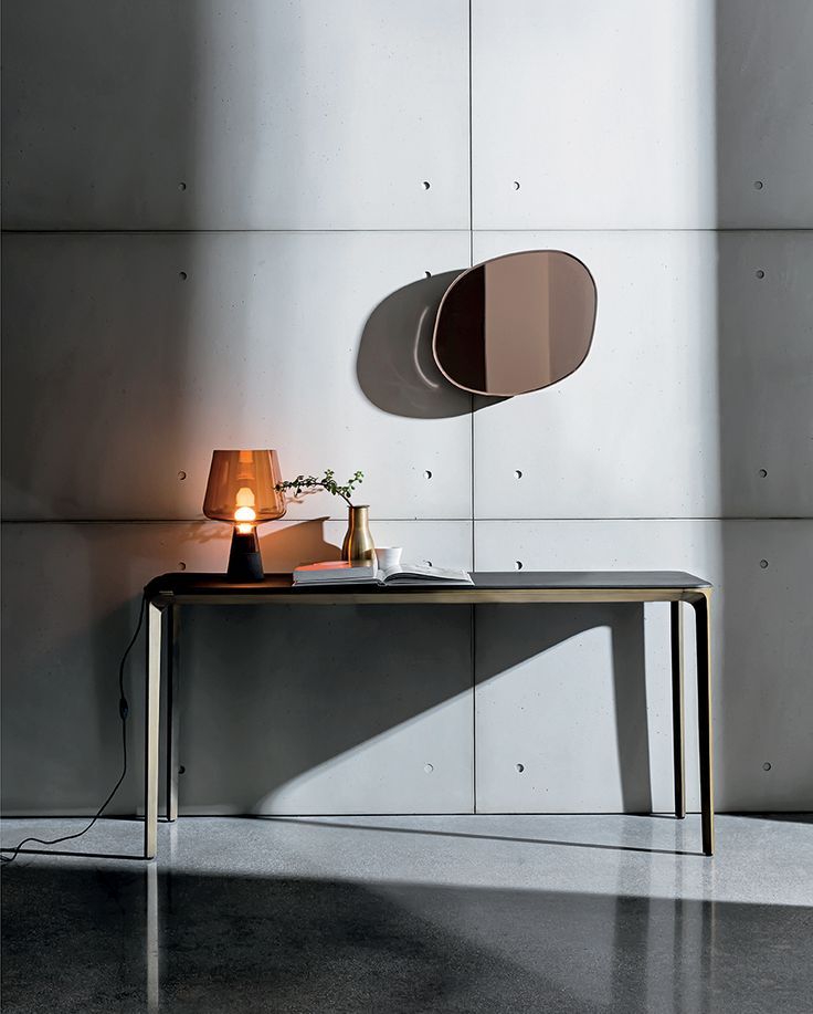 Be inspired by Gocce di Rugiada and Slim #console #interiors #home #inspirations #sovet #sovetitalia #design