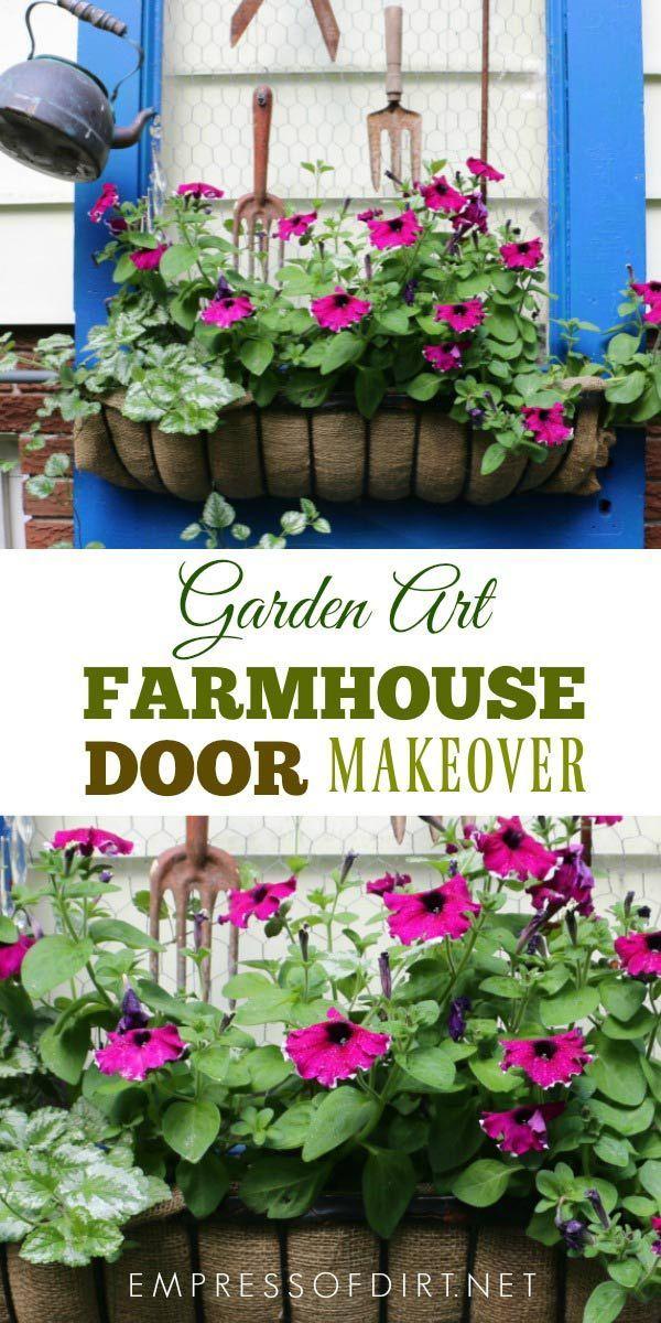 Farmhouse Door Garden Art Makeover 1253 best