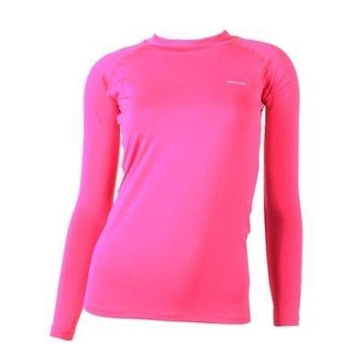 New 207 Take Five Womens Compression Base Layer Hot Pink Long Sleeve Shirt