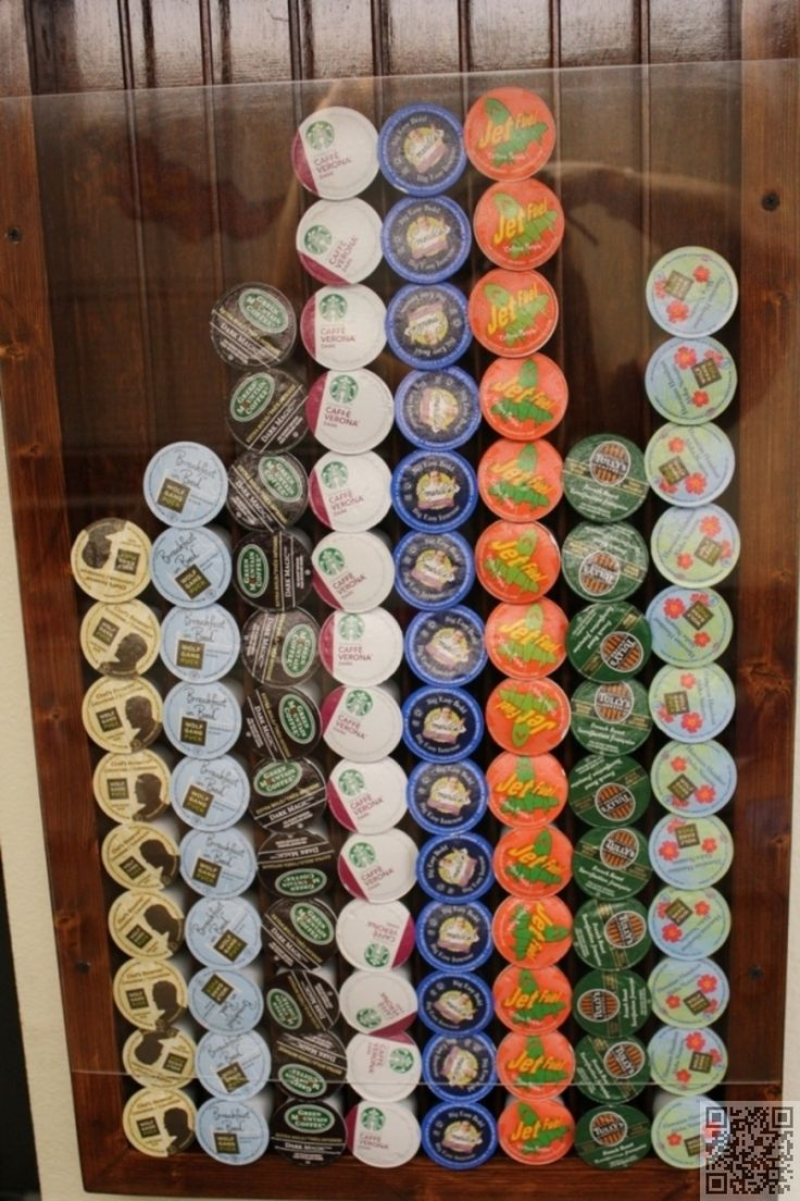 13. #Homemade K Cup Holder - 17 #Really Cool K Cup Things You Can Make ... → DIY #Advent
