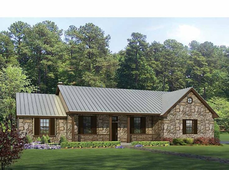 Eplans Ranch House Plan - Texas Hill Country Split Bedroom Plan - 2136 Square Feet and 4 Bedrooms from Eplans - House Plan Code HWEPL69040