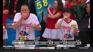 2014 Nathan's Hot Dog Eating Contest - Joey Chestnut Wins 8th Consecutive Title! - YouTube