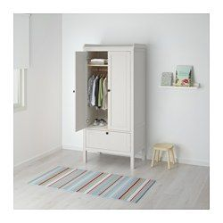 "SUNDVIK Wardrobe, white - 31 1/2x19 5/8x67 3/8 "" - IKEA"