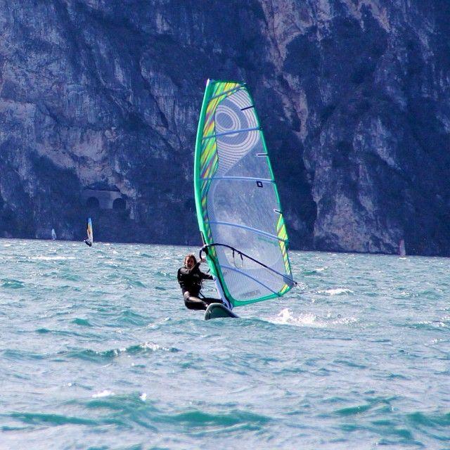 surfing on lake Garda