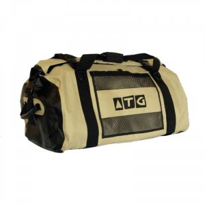 Multi-Activity Gear Bag 130L  The ATG 130L Drypak is a 100% waterproof, snow-proof, dust-proof, sand-proof, mud-proof travel bag and has all the advantages of an easy to use dry bag. It is flexible and variable packing volume adjusts to any situation.  This robust multi-activity bag is also good on diving boats, 4x4's, on top of trailers and roof-racks.