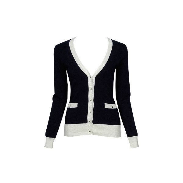 Forever21 - blue and white contrast cardigan ❤ liked on Polyvore featuring tops, cardigans, sweaters, jackets, shirts, blue white shirt, blue and white cardigan, forever 21 tops, blue and white top and forever 21 shirts