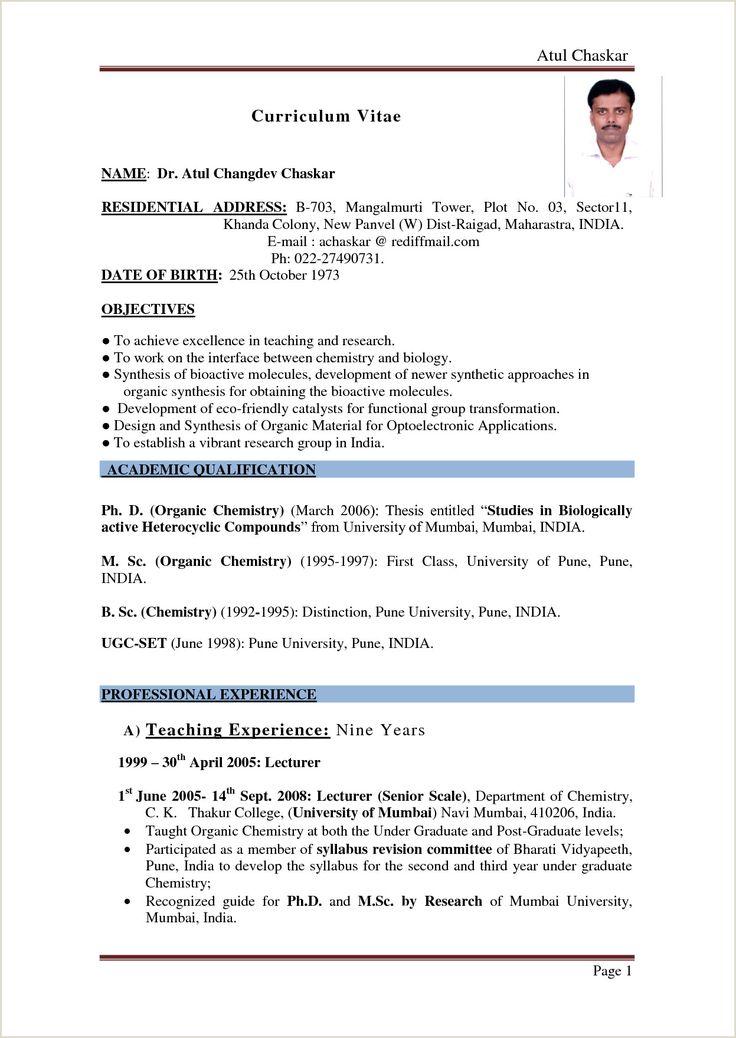 Fresher Resume format Pdf India in 2020 Job resume