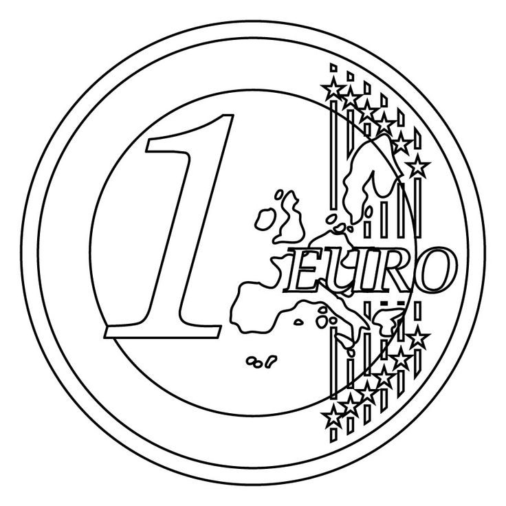 currency coloring pages french euro - photo#9