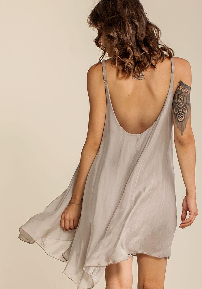 Airy Joyous Sand Dress  by myfashionfruit.com