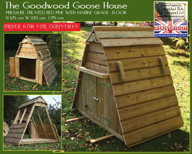 Goodwood goose house for the love of poultry pinterest for Duck and goose houses
