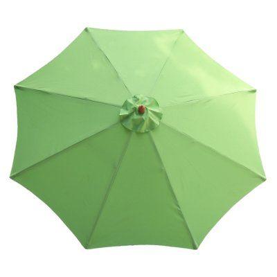 International Concepts 9 ft. Wood Market Umbrella Lime Green - 53751, Durable