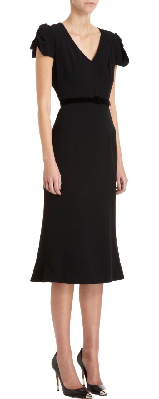 Perfect cut. #L'Wren Scott black dress