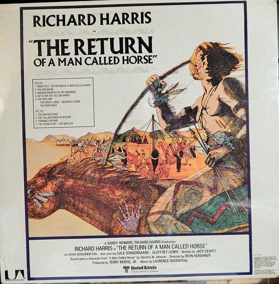 "RETURN Of A Man Called Horse (1976 music Laurence Rosenthal, 12"" Vinyl LP, Original Soundtrack)  Cult Western sequel, Richard Harris"