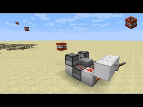 Minecraft 1 12 - Rapid fire TNT cannon (1 10+) - YouTube