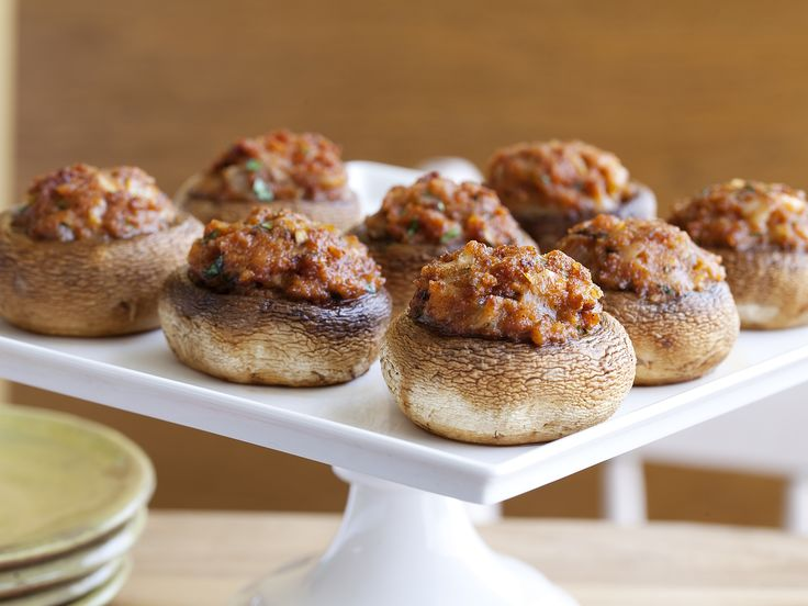 Stuffed Mushrooms (Hongos Rellenos de Chorizo) Recipe : Daisy Martinez : Food Network - FoodNetwork.com