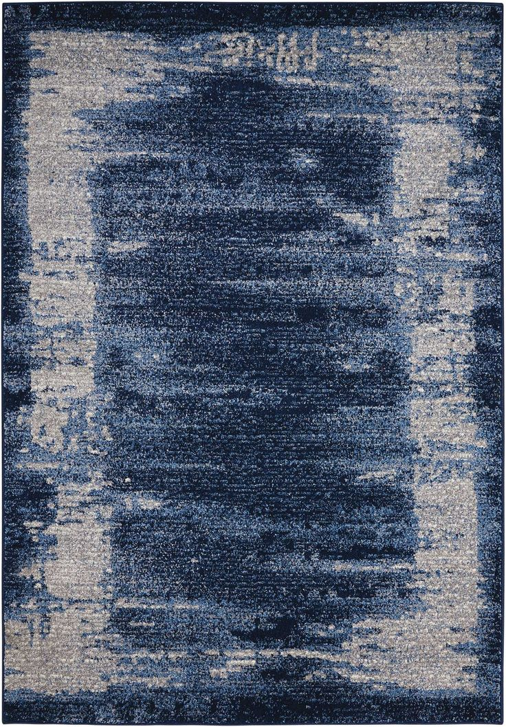 Nourison Kathy Ireland Illusion Blue   A Nice Transitional Style Area Rug  From The Kathy Ireland Collection From Nourison.