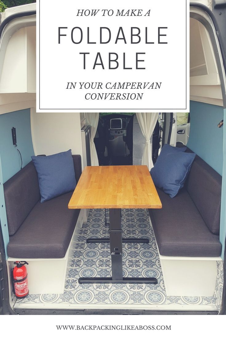 How to build a foldable table for in your campervan? Check out this blog for tips & tricks how to use a foldable table in your campervan conversion.