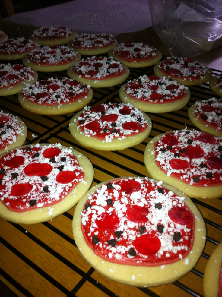 : sugar cookies with royal icing, grated candy melts and choc chips ...